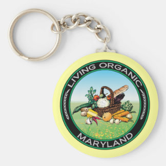 Organisch Maryland Basic Ronde Button Sleutelhanger
