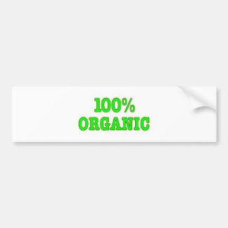 Organische 100% bumpersticker
