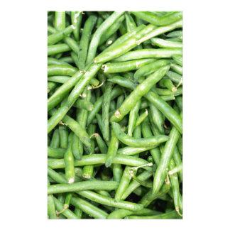 Organische Groene Onverwachte Bonen Veggie Briefpapier