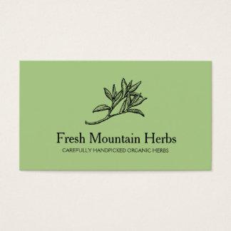 Organische Holistic Gezondheid 2 van de Tuinman Visitekaartjes