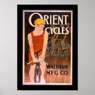Oriënteer Cycli 1890's Poster