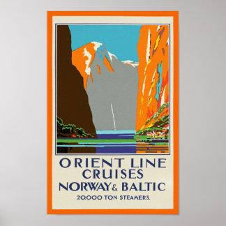 Oriënteer de Cruises ~ Noorwegen & de Oostzee van Poster