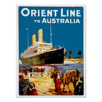 Oriënteer Lijn aan Australië Poster