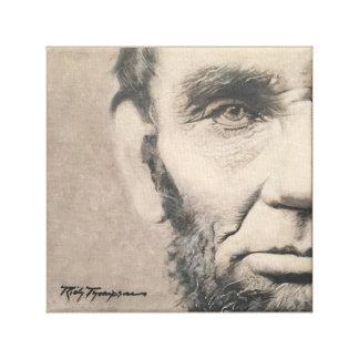 """Origineel Abraham Lincoln - """"Juist Perspectief """" Canvas Afdrukken"""