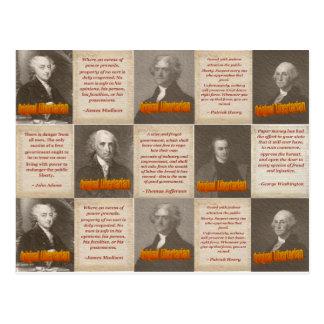 Origineel Briefkaart Libertarians