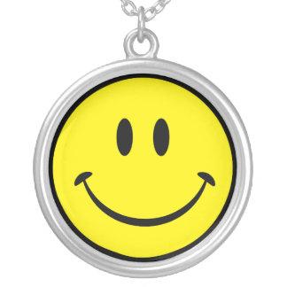 Origineel Gelukkig Gezicht Smiley Zilver Vergulden Ketting