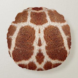 Origineel girafbont rond kussen
