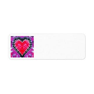 ORIGINEEL het adresetiket Roze Hart van de Etiket