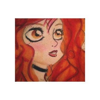 Origineel kunstwerk door Madison Bly - Meisje op B Canvas Bedrukken