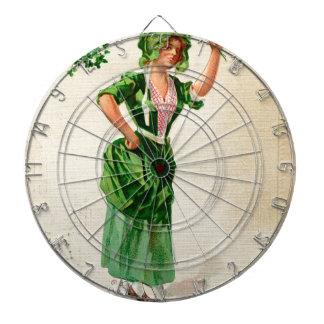 Originele de dagdame van Heilige Patrick in groen Dartbord
