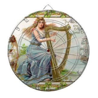 Originele de dagharp & dame van Heilige Patrick Dartbord