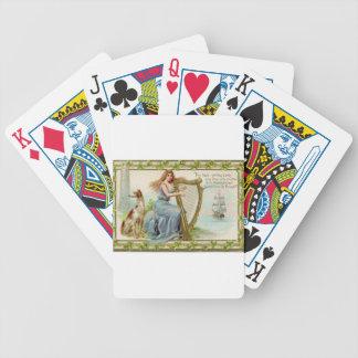Originele de dagharp & dame van Heilige Patrick Poker Kaarten