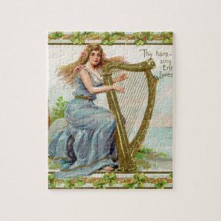 Originele de dagharp & dame van Heilige Patrick Puzzel