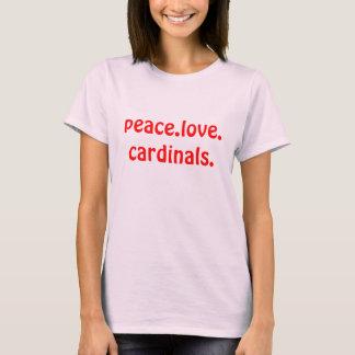 Originele de Kardinalen van de Liefde van de vrede T Shirt