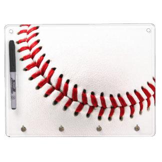 Originele honkbalbal whiteboard met sleutelhanger