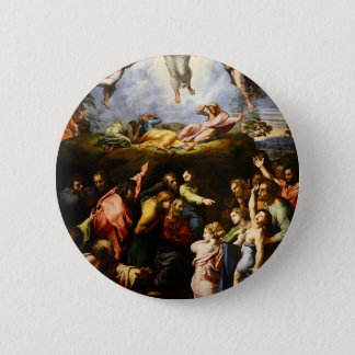 """Originele verf de """"Transfiguratie"""" Raffaello Ronde Button 5,7 Cm"""