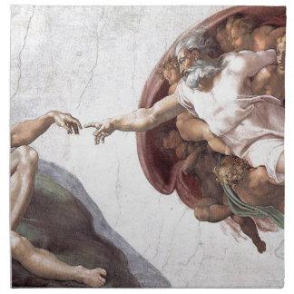 Originele verf Michelangelo in sistinkapel Rome Servet