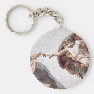 Originele verf Michelangelo in sistinkapel Rome Sleutelhanger