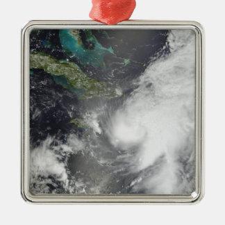 Orkaan Ernesto Zilverkleurig Vierkant Ornament