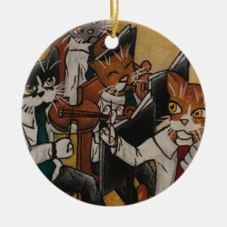 Orkestraal Katten Rond Keramisch Ornament