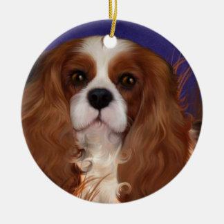 Ornament, arrogant spaniel, blenheim rond keramisch ornament