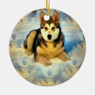 Ornament het van Alaska van het Puppy Malamute
