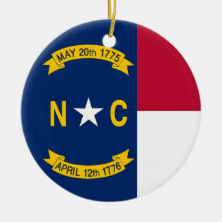 Ornament met vlag van Noord-Carolina