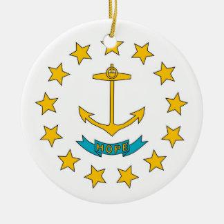 Ornament met vlag van Rhode Island