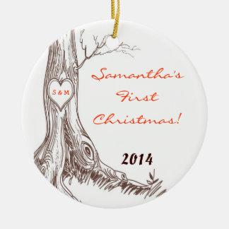 Ornament van de Naam van de Boom van de Herfst van