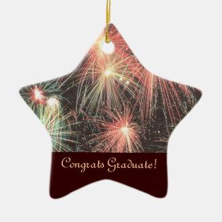 Ornament van de Ster van Congrats het