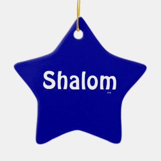 Ornament van de Ster van Shalom het Blauwe Witte