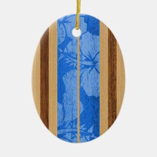 Ornament van de Surfplank Vintage Faux van Haleiwa