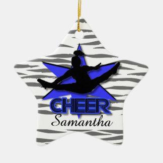 Ornament van de tijgerKerstmis van Cheerleader het