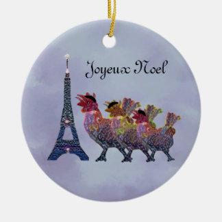 Ornament van drie het Franse Kippen