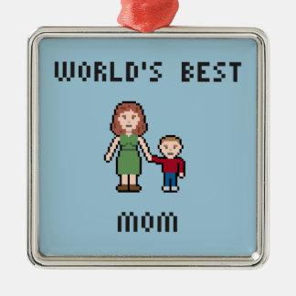 Ornament van het Mamma van de Wereld van het pixel