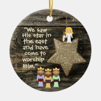 Ornament van Kerstmis van de bijbel het Vers