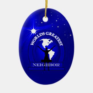 Ornament van Kerstmis van de Buur van werelden het