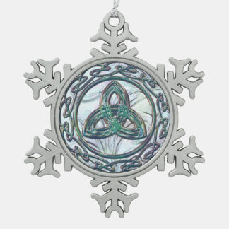 Ornament van Kerstmis van de Knoop van de Tin Sneeuwvlok Ornament