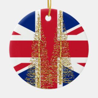 Ornament van Kerstmis van de Vlag van Engeland het