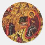 Orthodoxe Geboorte van Christus Ronde Stickers