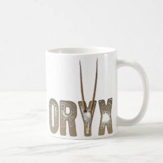 Oryx - dier van de de woestijn/Schedel van Namibië Koffiemok
