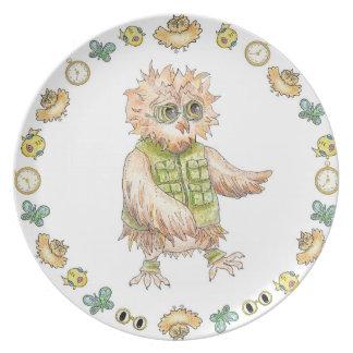 Oscar Owl Melamine Birthday Plate Melamine+bord