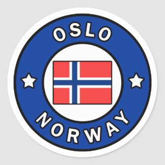 Oslo Noorwegen Ronde Sticker