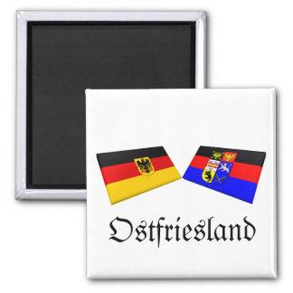 Ostfriesland, de Tegels van de Vlag van Duitsland Magneet