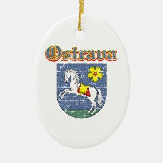 Ostrava coart van wapen keramisch ovaal ornament