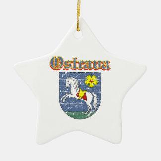 Ostrava coart van wapen keramisch ster ornament