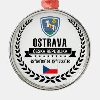 Ostrava Zilverkleurig Rond Ornament