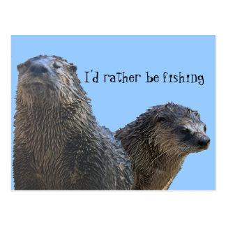otter, otter 2, zou ik eerder vissen briefkaart