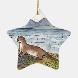 otter van loch keramisch ster ornament