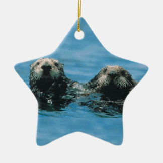 Otters Keramisch Ster Ornament